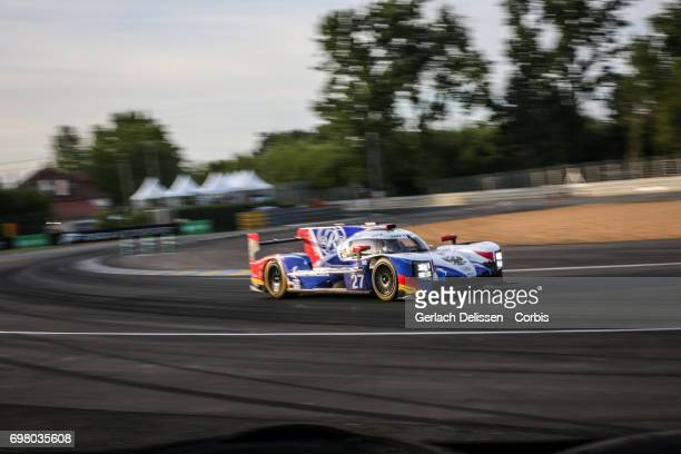 The LMP2 SMP Racing Dallara P217Gibson with drivers Mikhail Aleshin /Sergey Sirotkin /Victor Shaytar in action during the qualification for the Le...
