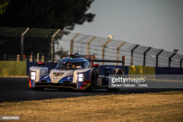 The LMP2 SMP Racing Dallara P217Gibson with drivers Mikhail Aleshin /Sergey Sirotkin /Victor Shaytar in action during the Le Mans 24 Hours race on...