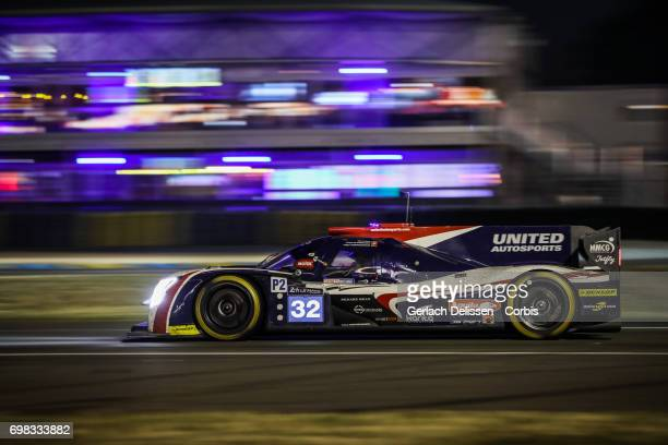 The LMP2 United Autosports Ligier JSP217Gibson with drivers William Owen /Hugo de Sadeleer /Filipe Albuquerque in action during the Le Mans 24 Hours...