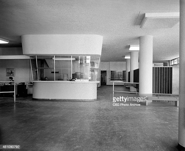 The lobby of Columbia Square located at 6121 Sunset Boulevard in Hollywood Los Angeles California home of CBS's Los Angeles radio and television...