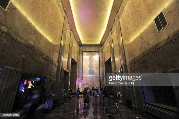 The lobby of Empire State Building