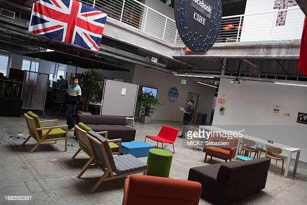 The lobby of the building at the Facebook main campus on April 23 2013 in Menlo Park United States