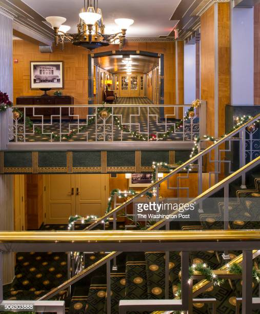 The lobby of the Kennedy Warren apartment building For on a story on baby boomers selling their homes and renting in Washington DC on January 4 2018