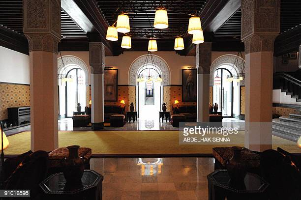 The lobby of the legendary Marrakesh hotel La Mamounia is seen on September 19 2009 before its reopening on September 27 following a threeyear...