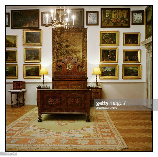 The Lobkowicz Family A bedroom of the Nelahozeves Castle is photographed for Vanity Fair Magazine on December 17 2009 in Prague Czech Republic...