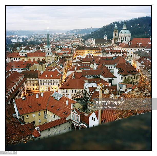 The Lobkowicz Family A view from Lobkowicz Palace is photographed for Vanity Fair Magazine on December 17 2009 in Prague Czech Republic Published...