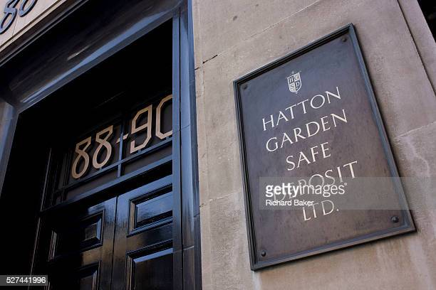 The location in central London where the Hatton Garden safe Deposit company is the scene of one London's most notorious valuables heist in recent...