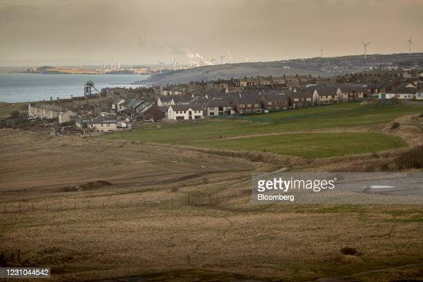 The location of the proposed site of a new coal mine in Whitehaven, U.K., on Monday, Feb. 8, 2021. The U.K. Government backed the new mine which is...