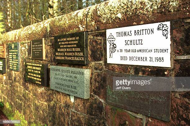 The Lockerbie Memorial Cemetery in Drysdale scene of the crash site of Boeing 747 PAN AM flight 103 which exploded over the scottish town of...