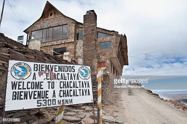 The lodge of the Club Andino Boliviano at Cerro Chacaltaya