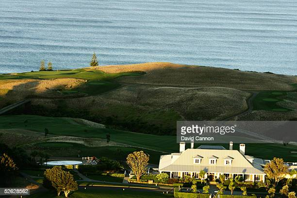 The Lodge with the Kauri Cliffs Golf Course at the Lodge at Kauri Cliffs, on March 17 in Matauri Bay, Northland, New Zealand.