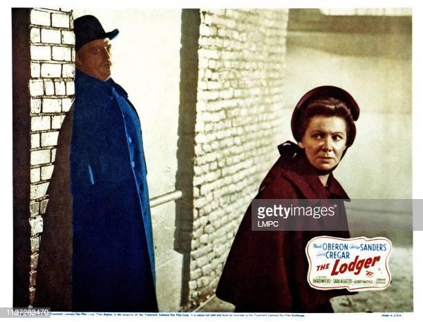 The Lodger lobbycard from left Laird Cregar Queenie Leonard 1944