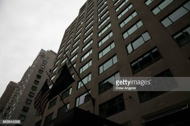 The Loews Regency Hotel on Park Avenue is shown where FBI officials reportedly raided a room belonging to Michael Cohen longtime personal lawyer for...
