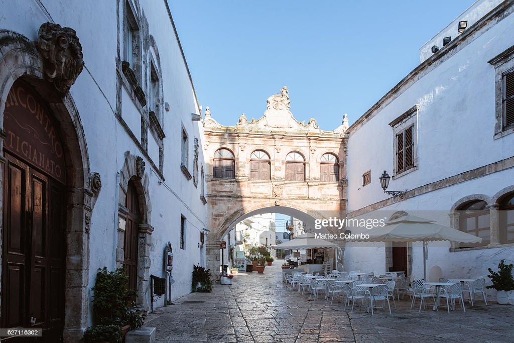 The Loggia in Ostuni (the White town), Apulia, Italy : Stock Photo