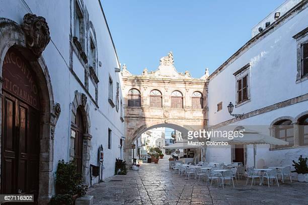 The Loggia in Ostuni (the White town), Apulia, Italy
