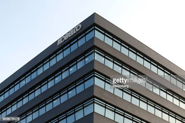 The logo for Kobe Steel Ltd is displayed atop the company's headquarters in Kobe Hyogo Japan on Tuesday Oct 10 2017 Kobe Steel unleashed an...