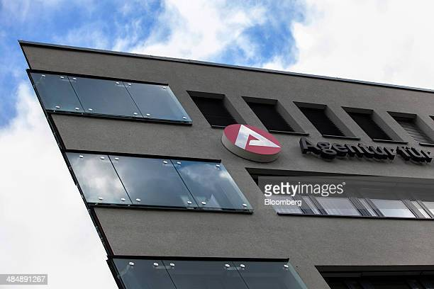 The logo of Agentur fuer Arbeit sits on the exterior of a employment office in Stuttgart Germany on Monday April 14 2014 German unemployment fell for...