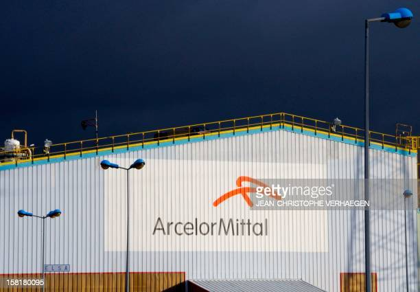The logo of ArcelorMittal's steel plant in Florange eastern France is pictured on December 10 2012 ArcelorMittal chief Lakshmi Mittal has vowed to...