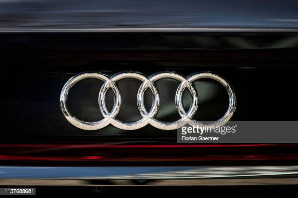 The Logo Of Audi Is Pictured On April 17 2019 In Berlin Germany