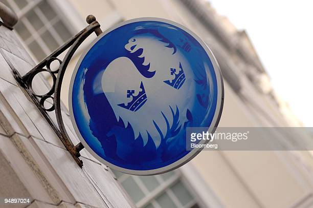 The logo of Barclays Bank Plc is displayed at a branch on The Strand in London UK on Tuesday Feb 19 2008 Barclays Plc the fourthbiggest UK bank may...