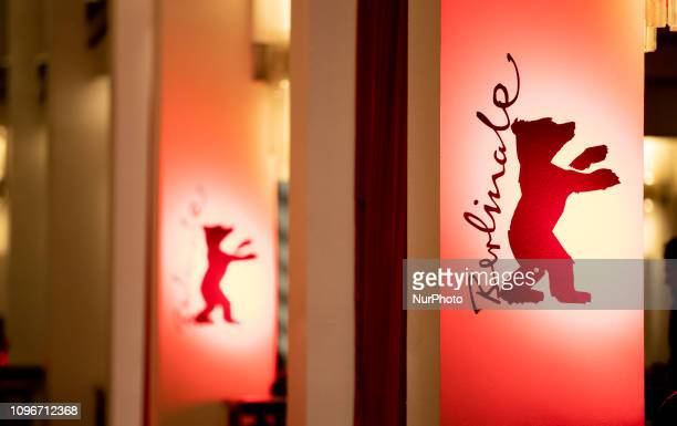 The logo of Berlianle during the 'Gully Boy' Premiere at the 69th Berlinale International Film Festival Berlin on February 9 in Berlin, Germany. The...