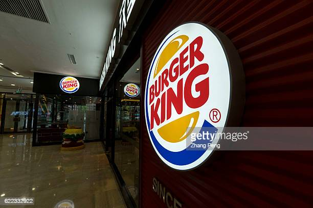 The logo of Burger King is seen outside a restaurant in Wanda Plaza Burger King is seeing particularly strong results in China where it has about 500...
