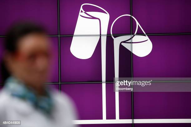 The logo of Cadbury chocolate sits on display at the Bournville Cadbury factory operated by Mondelez International Inc in Birmingham UK on Thursday...