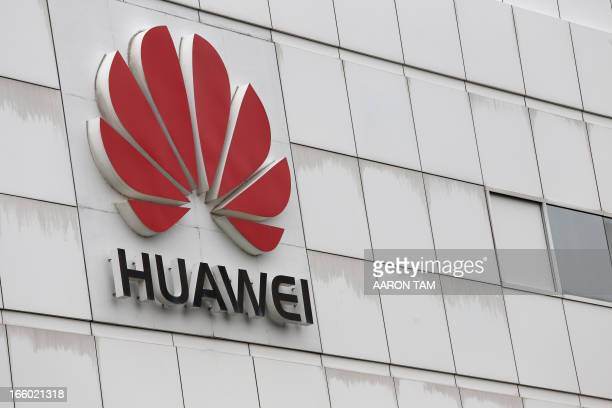 The logo of Chinese tech giant Huawei is seen on a building on its campus in the Chinese city of Shenzhen on April 7 2013 Chinese tech giant Huawei...