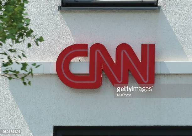 The logo of CNN is seen in Munich