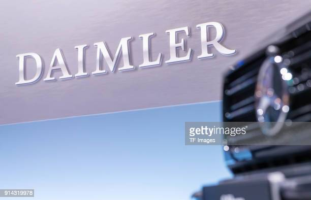 The logo of Daimler is seen during the annual results press conference of Daimler AG on February 01 2018 in Stuttgart Germany