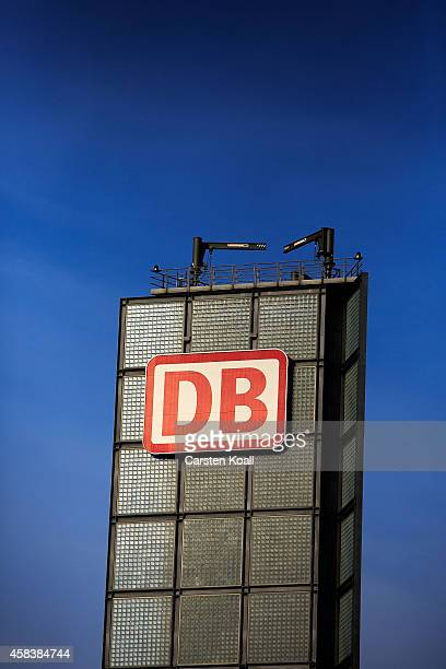The logo of Deutsche Bahn is fixed at the business tower of the Berliner Hauptbahnhof on November 4 2014 in Berlin Germany Germany is facing a...