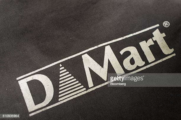 The logo of DMart a supermarket chain operated by Avenue Supermarts Ltd is seen on a shopping bag in Thane Maharashtra India on Saturday Feb 13 2016...
