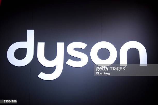 The logo of Dyson Ltd sits on display at their stall on eve of the opening of the IFA consumer electronics show in Berlin Germany on Thursday Sept 5...