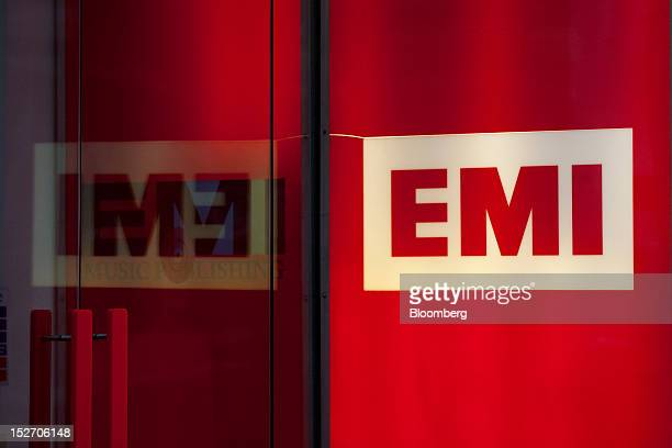 The logo of EMI Group Ltd sits outside the company's headquarters in London UK on Monday Sept 24 2012 Vivendi SA's Universal Music Group won approval...