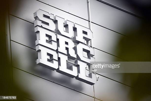 The logo of Finnish computer game maker Supercell is pictured at the companys head office in Helsinki on October 15 2013 Finnish computer game maker...