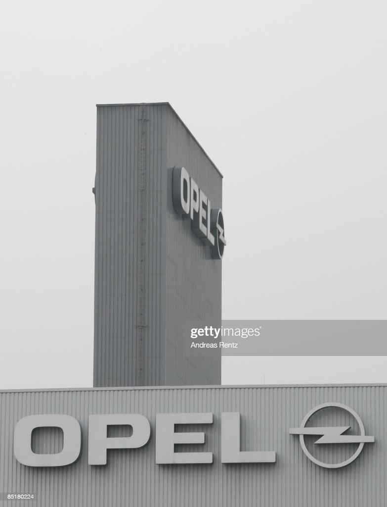The logo of German car maker Opel AG is seen at the plant on March 2, 2009 in Eisenach, Germany. Opel announces a business plan directed to the German government to substantiate the demand for subsidy. Opel needs a rescue package of 3.3 billion euros to stay solvent due to serious difficulties of GM.