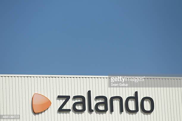 The logo of German online shoes and clothing retailer Zalando is displayed on one of the company's shipping warehouses on September 8, 2014 in...