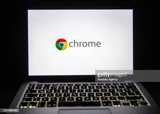 The logo of Google Chrome is seen on laptop's screen in Ankara, Turkey on February 18, 2020. Ali Balikci / Anadolu Agency