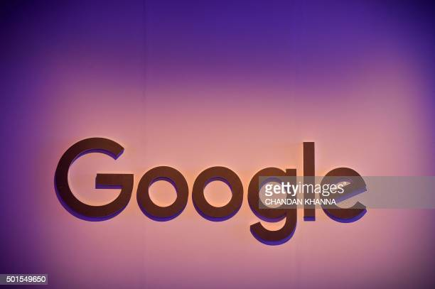 The logo of Google Inc is seen on display during a press conference in New Delhi on December 16 2015 / AFP / Chandan Khanna
