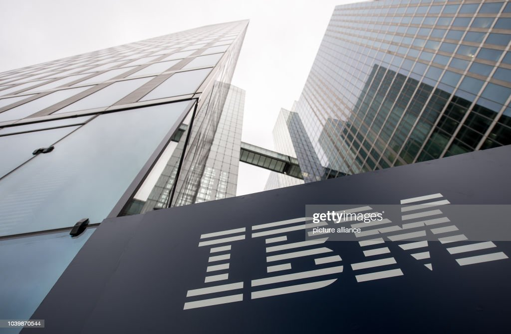 The logo of IBM is seen at