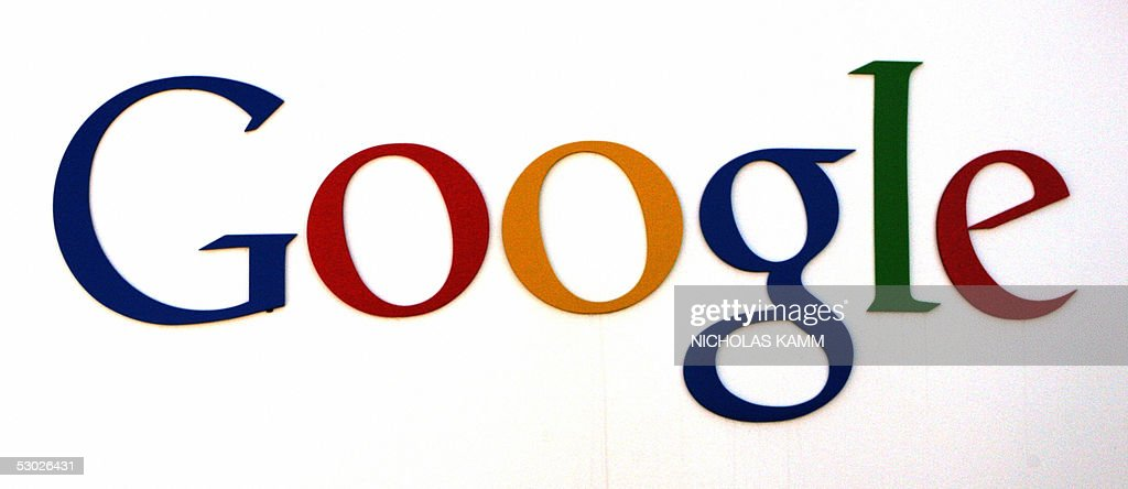 The logo of internet search engine compa : News Photo