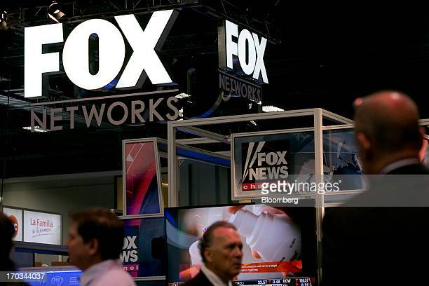 The logo of News Corp's Fox Networks Group Inc is seen on the exhibit floor during the National Cable and Telecommunications Association Cable Show...