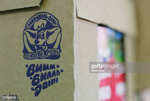 The logo of OAO WimmBillDann is seen on the front of a dairy carton displayed for sale in a supermarket in Moscow Russia on Wednesday Dec 8 2010...