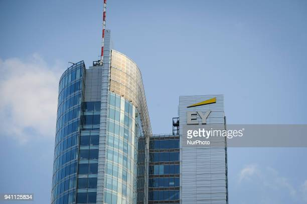The logo of professional services company Ernst and Young is seen in Warsaw Poland on April 2 2018
