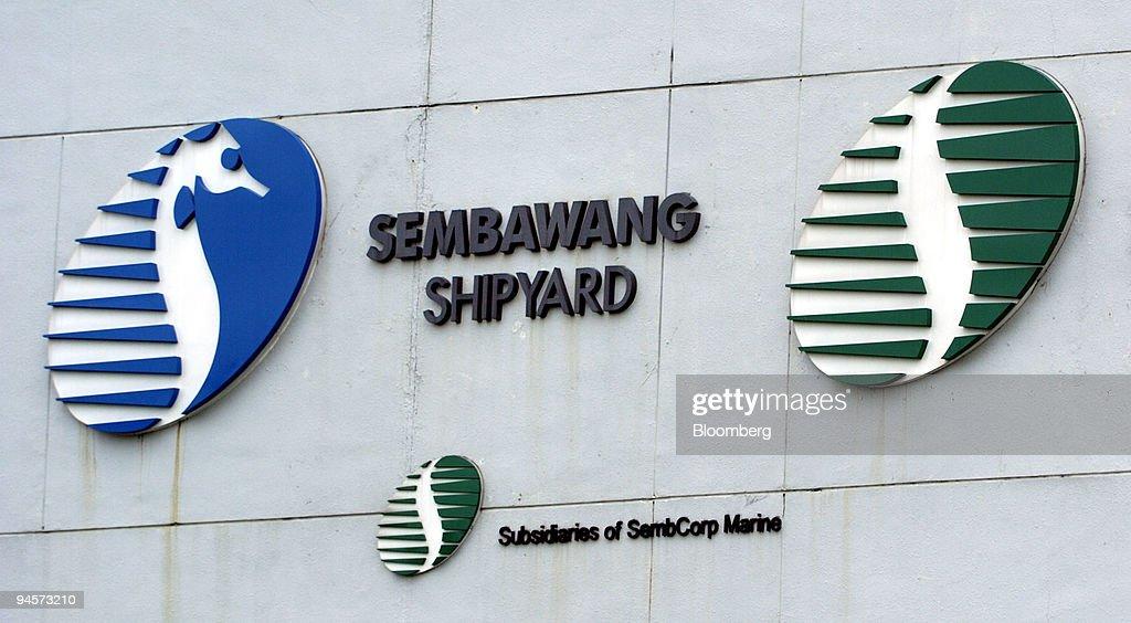 The logo of Sembawang Shipyard, owned by SembCorp Marine Ltd