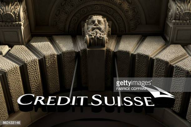 The logo of Swiss banking giant Credit Suisse is seen on October 17 2017 in Zurich / AFP PHOTO / Fabrice COFFRINI