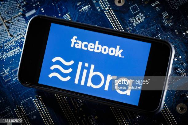The logo of the crypto currency facebook Libra is displayed on a smartphone on June 21 2019 in Berlin Germany