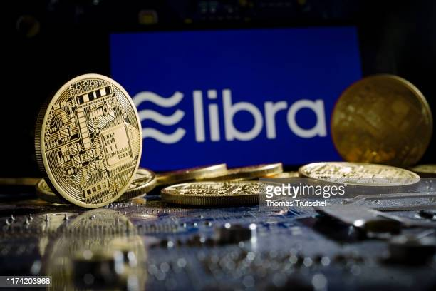 The logo of the crypto currency Libra is displayed on a smartphone on October 01 2019 in Berlin Germany