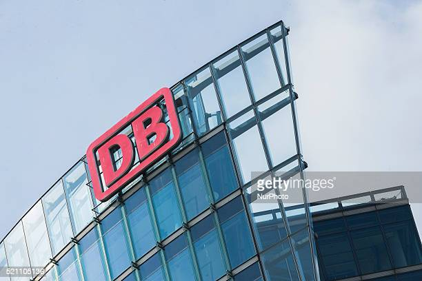 The logo of the Deutsche Bahn on top of the Deutsche Bahn Tower is pictured in Berlin Germany on April 13 2016
