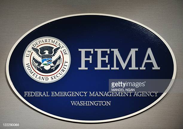 The logo of the Federal Emergency Management Agency is seen at its headquarters August 27, 2011 in Washington, DC. AFP PHOTO/Mandel NGAN